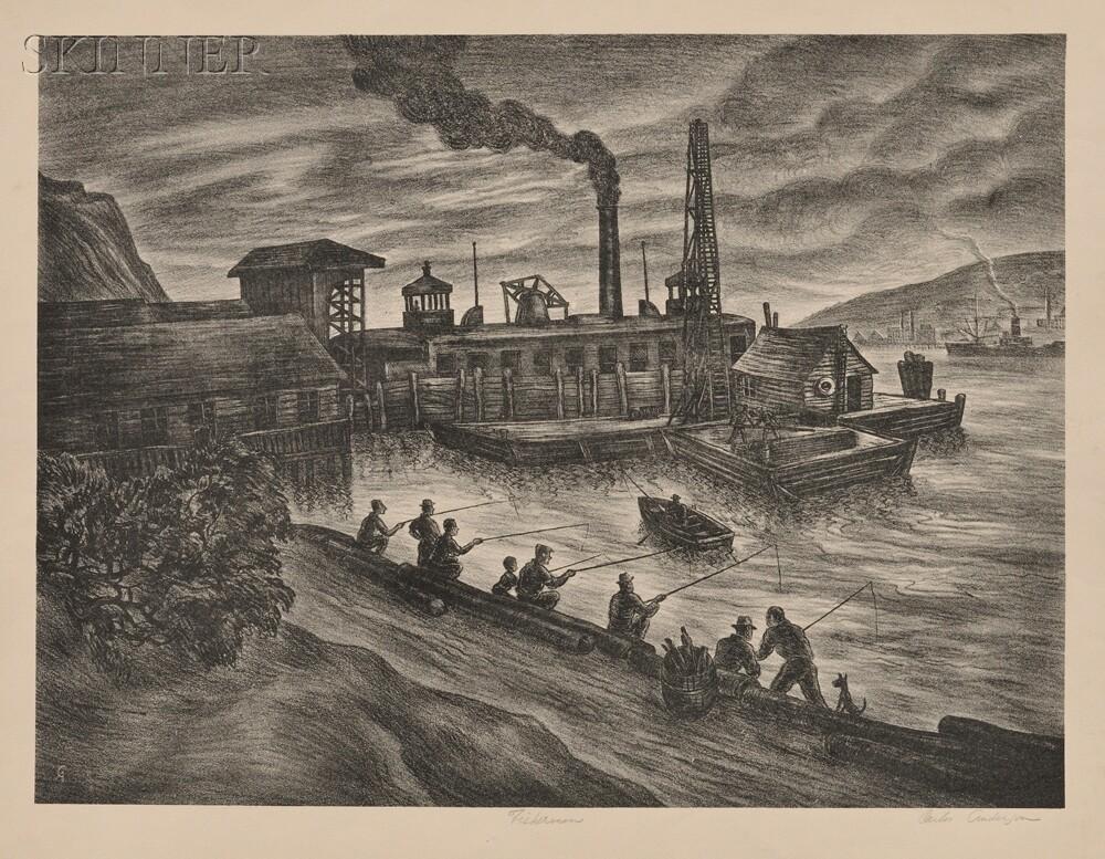 Carlos Anderson (American, b. 1905)      Two Scenes:  Sunshine Canyon