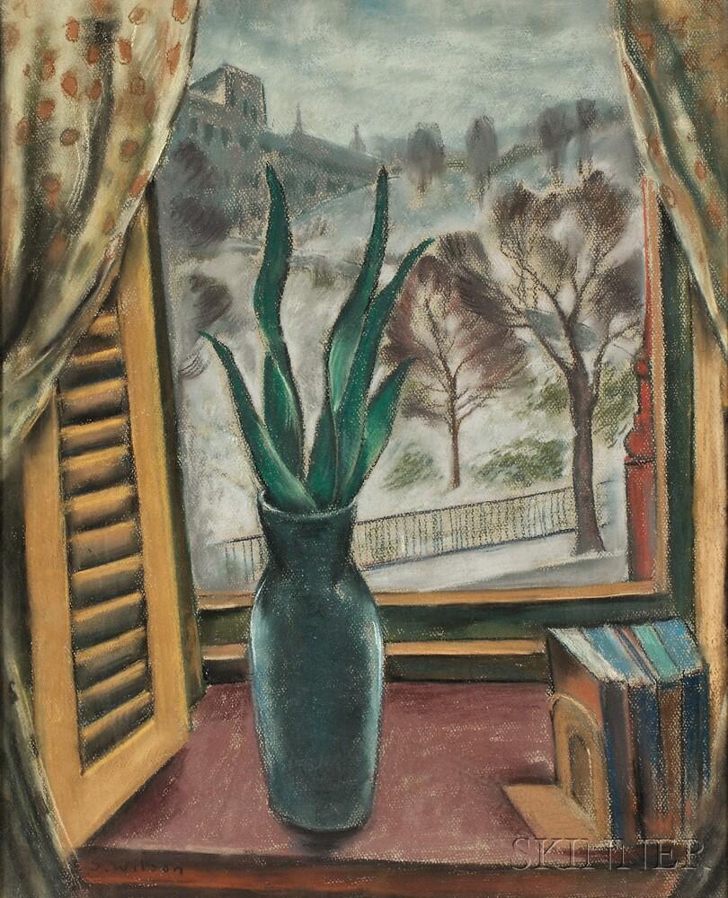 Sol Wilson (American, 1896-1974)    Through the Window