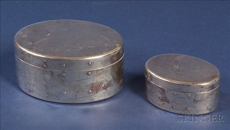 Two Italian Sterling Trinket Boxes made for Tiffany & Co.