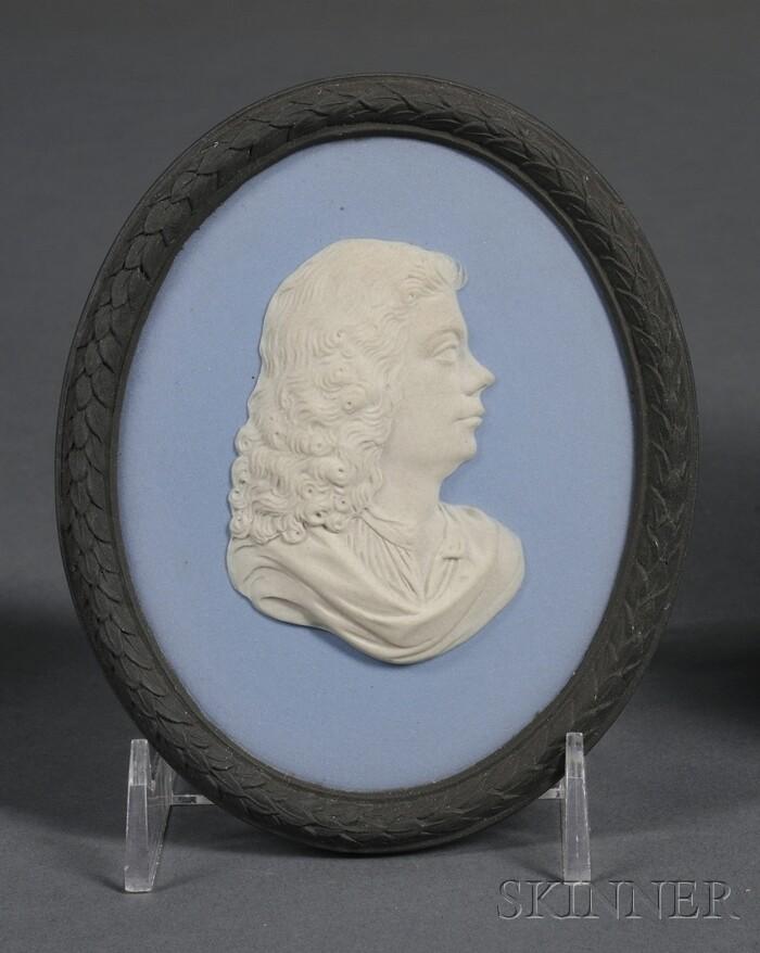 Wedgwood Bert Bentley Three-color Jasper Portrait Medallion