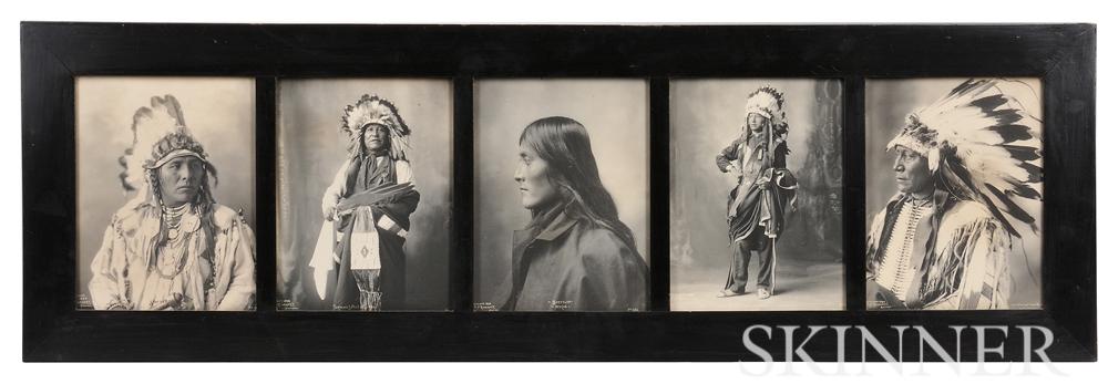Five Framed F.A. Rinehart Photographs