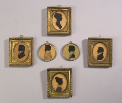 Group of Six Silhouettes
