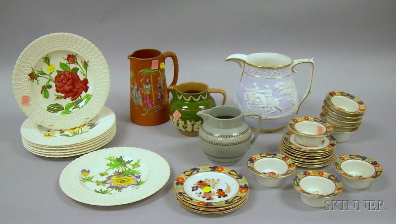 Group of English Pottery Tableware