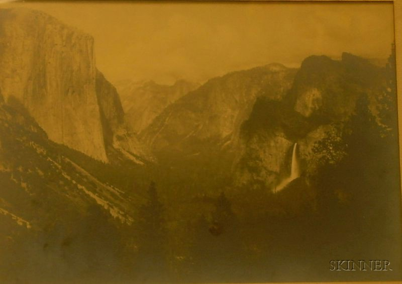 Framed Photograph of a Western View Attributed to Carleton Eugene Watkins   (American, 1829-1916)