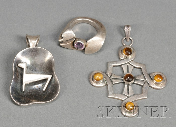 Two Pendants and a Ring