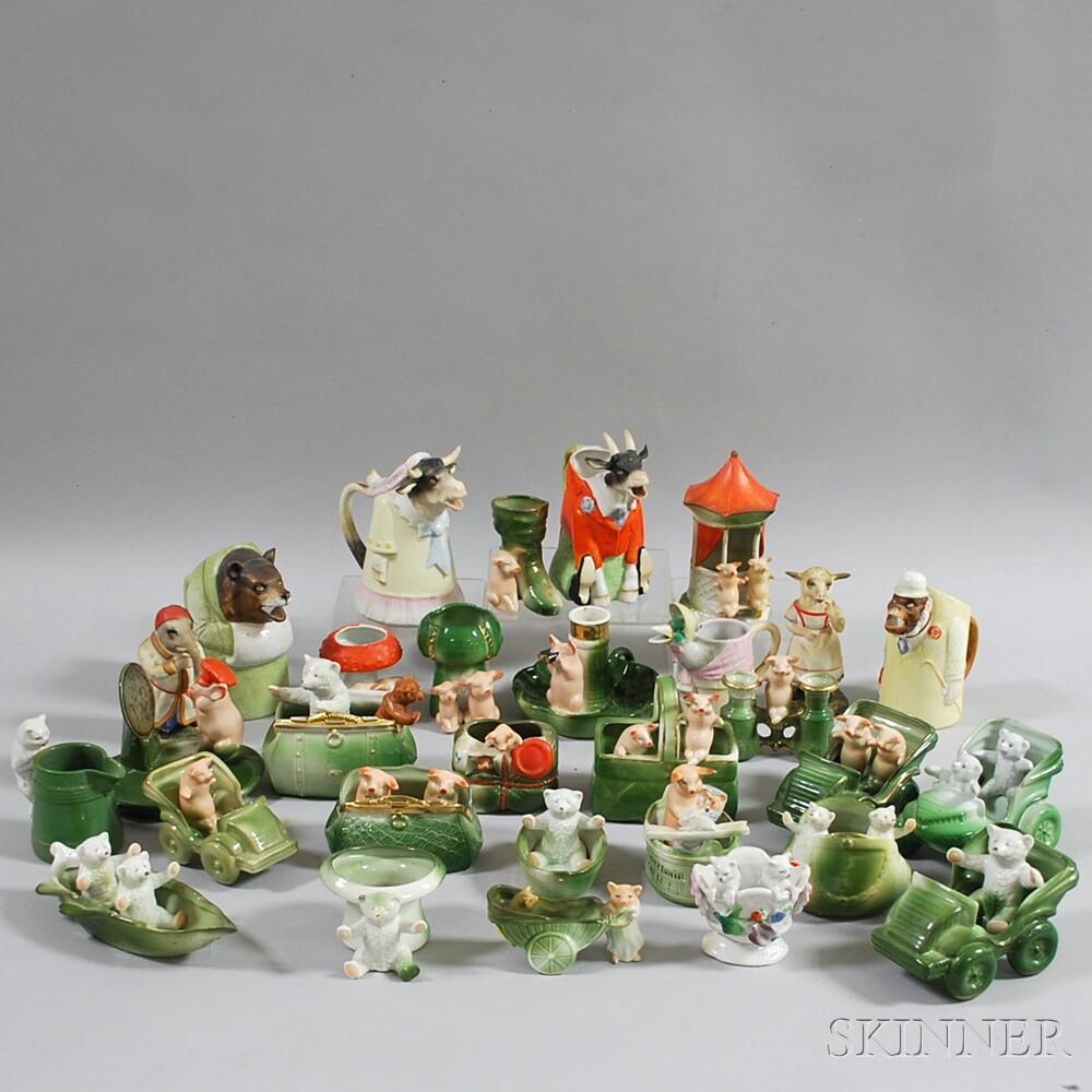 Thirty Ceramic Animal Figures