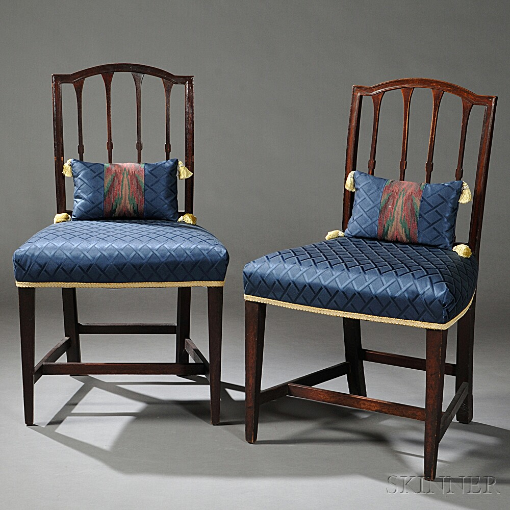 Pair of Federal Mahogany Side Chairs