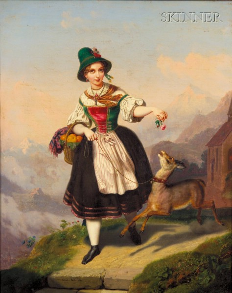 Charles Christian Nahl (American, 1818-1878)      On the Mountain