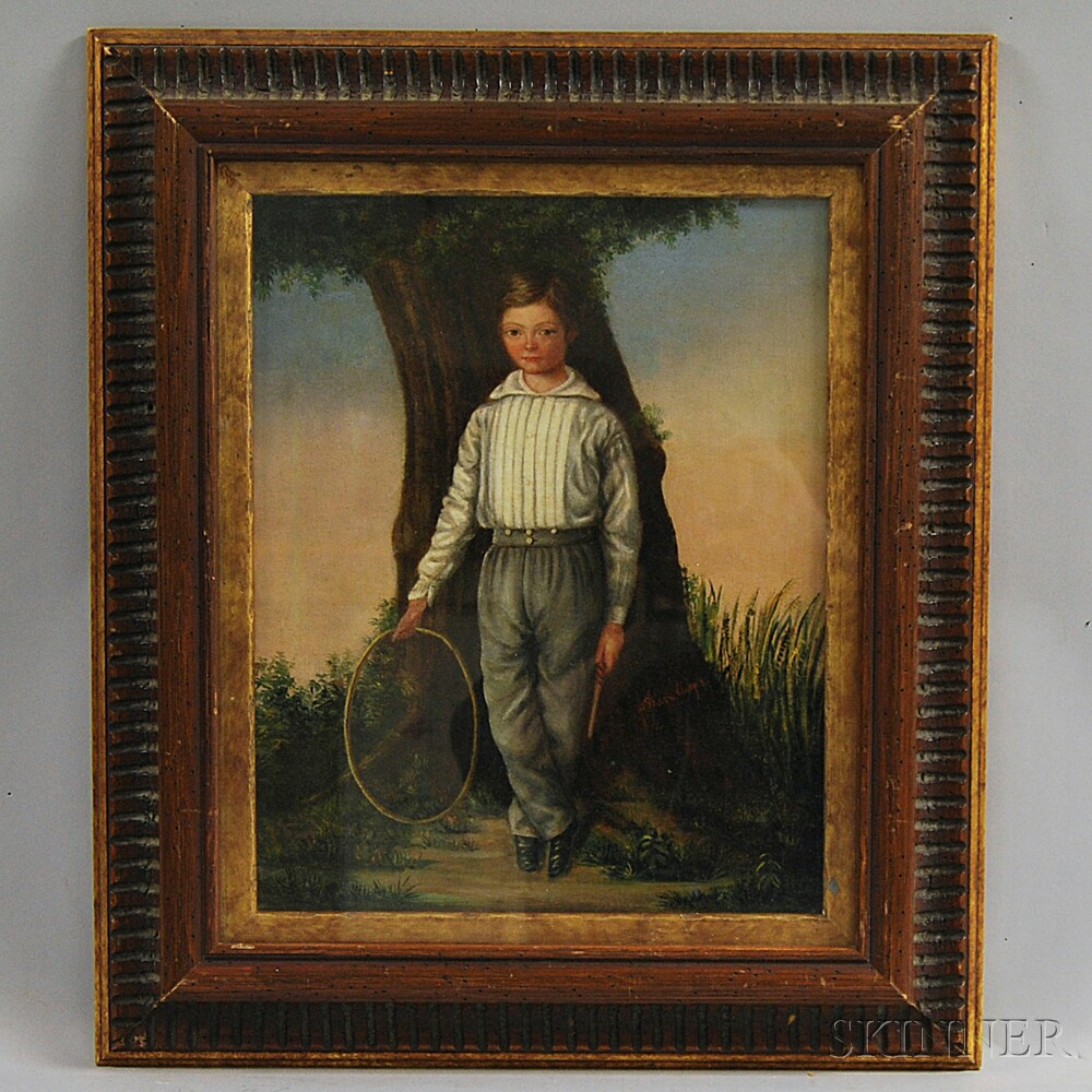 American School, 19th Century       Boy with Hoop.