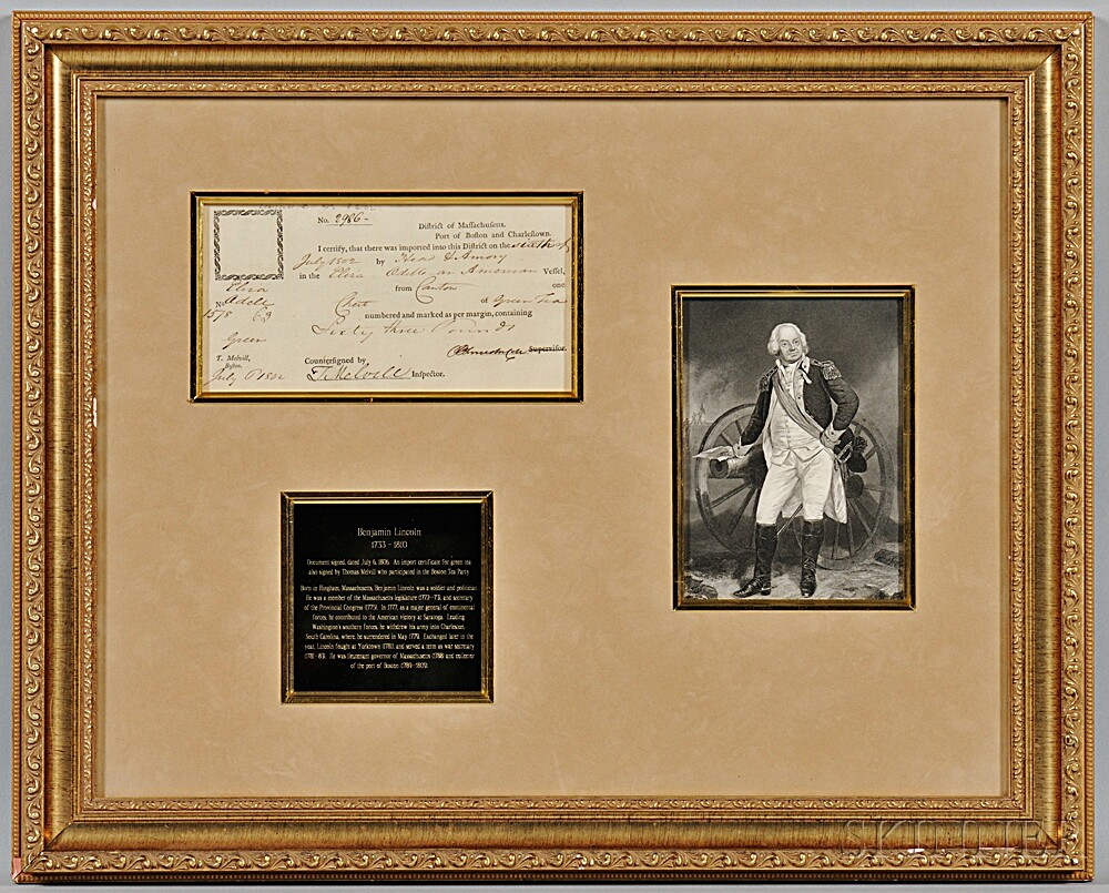 Lincoln, Benjamin (1733-1810) Document Signed, 6 July 1802.