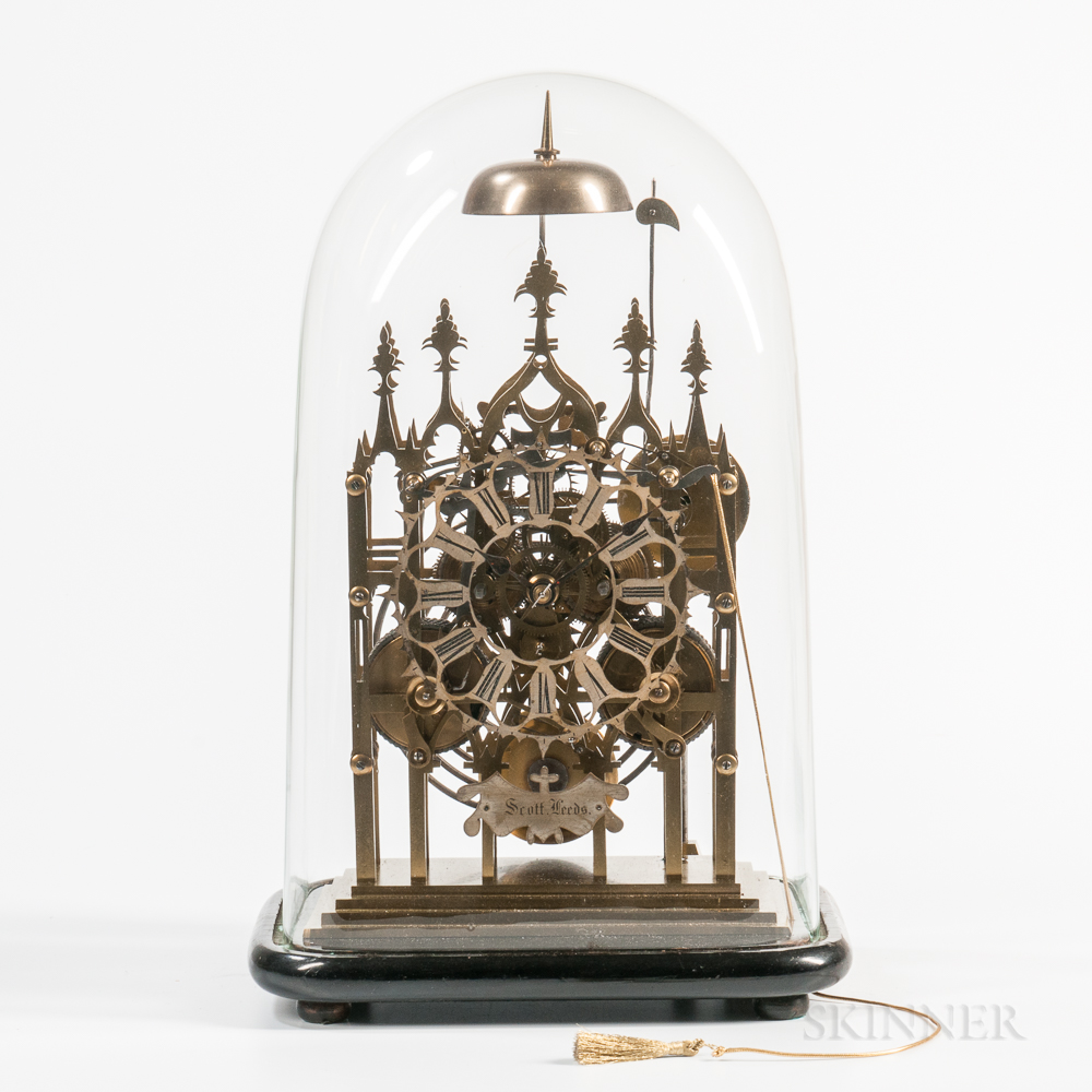 Gothic or Cathedral-form Fusee Skeleton Clock