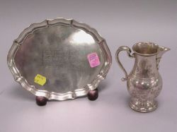 Gorham Sterling Silver 1960 Glen View Golf Trophy Tray and Spaulding & Co. Sterling Glen View Trophy Creamer.
