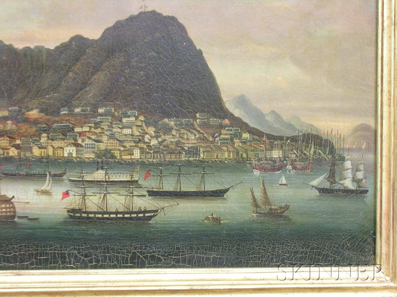 Chinese School, 19th Century      View of Hong Kong Island and Harbor.