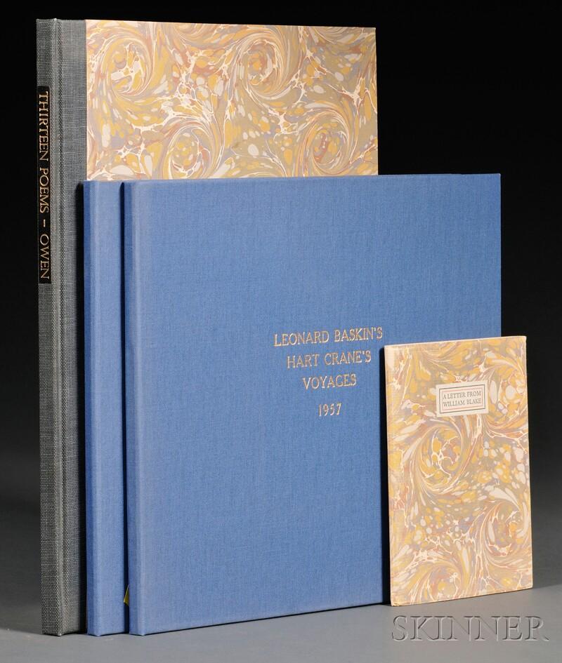 (Baskin, Leonard (1922-2000), Illustrator), and (Fine Press, Gehenna)