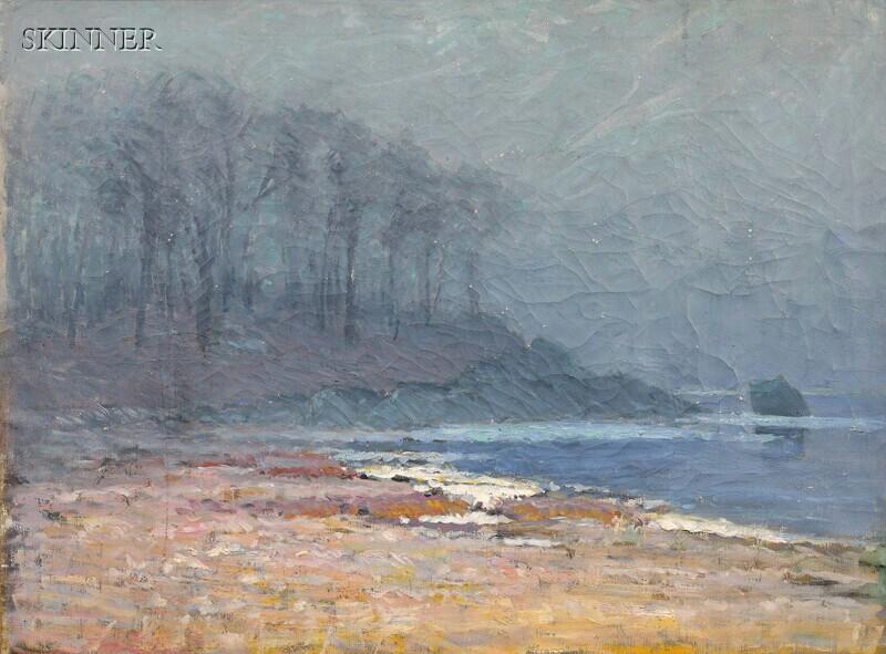 George Frederick Muendel (American, 1871-1948)      Bailey's Beach, Rowayton, Connecticut