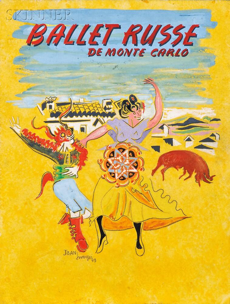 Joan Junyer (Spanish, 1904-1994) Program Cover Design for