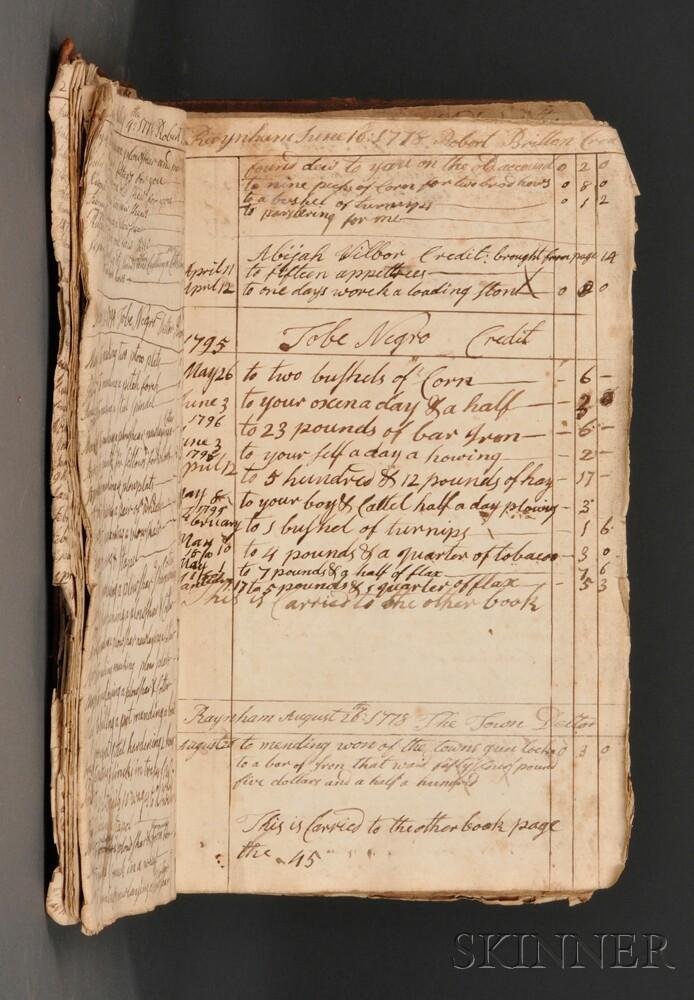 Manuscript Account Books, American, Two: c. 1771-1807.