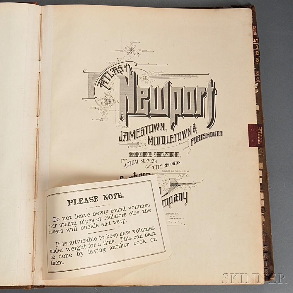 Newport, Rhode Island. Atlas of Newport, Jamestown, Middletown & Portsmouth.