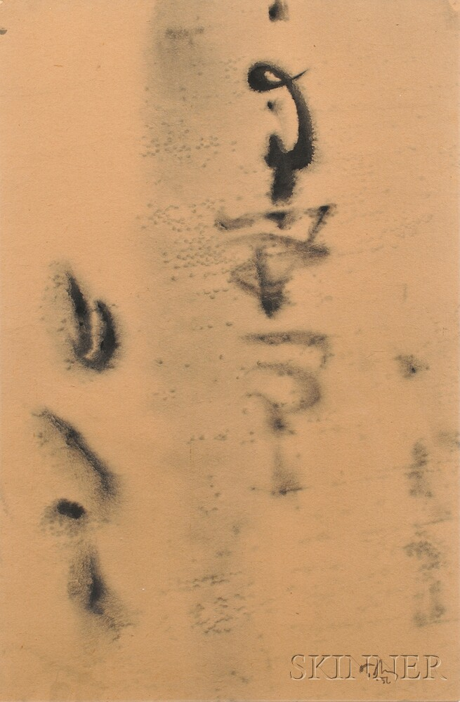 Mark Tobey American 1890 1976 Calligraphy Sale Number