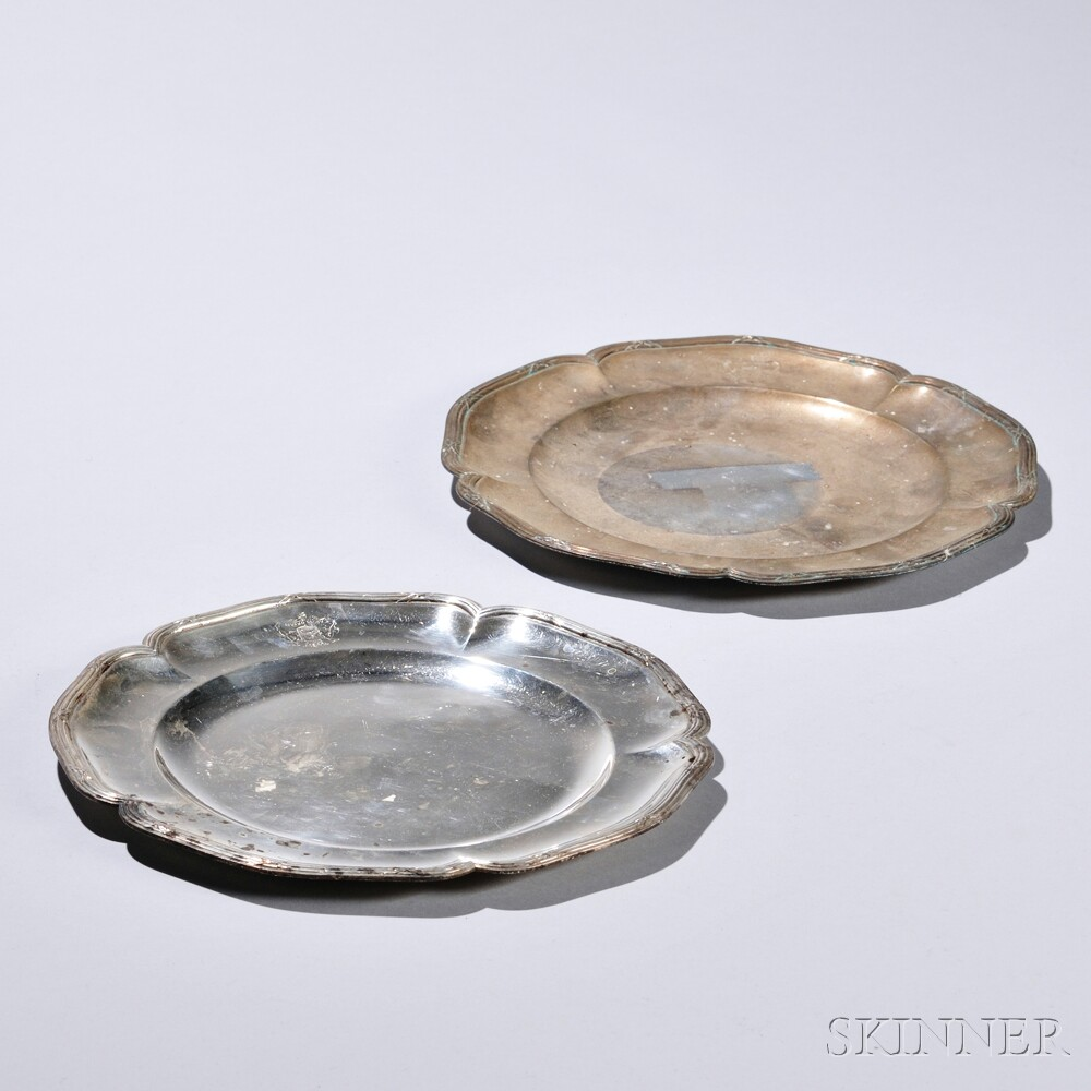 Pair of French .950 Silver Plates