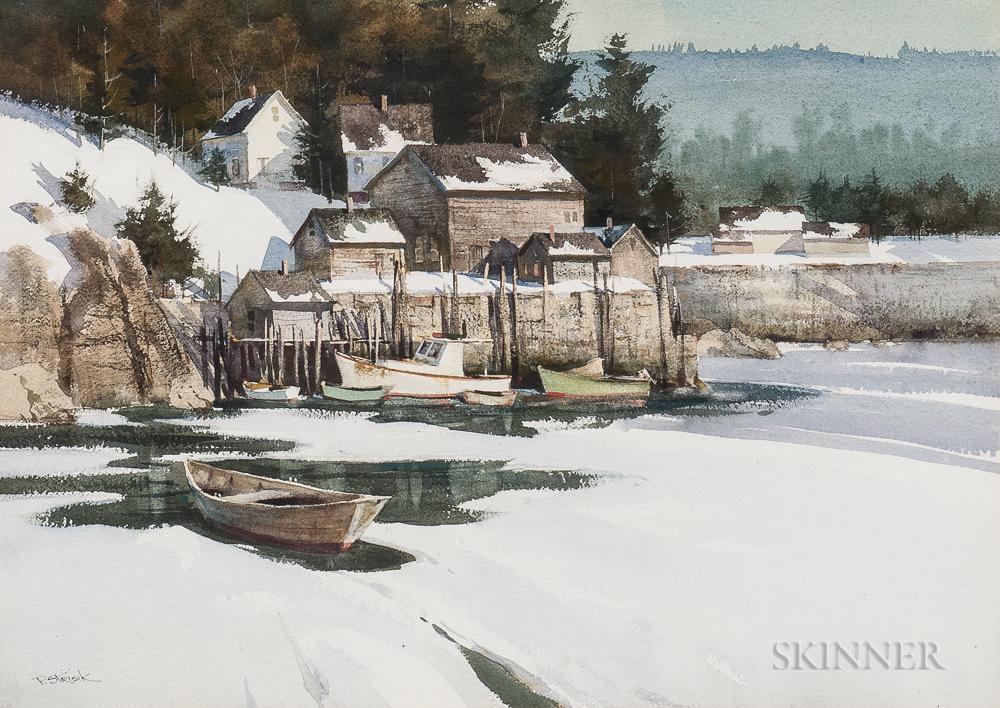 Paul Strisik (American, 1918-1998)      Winter Morning
