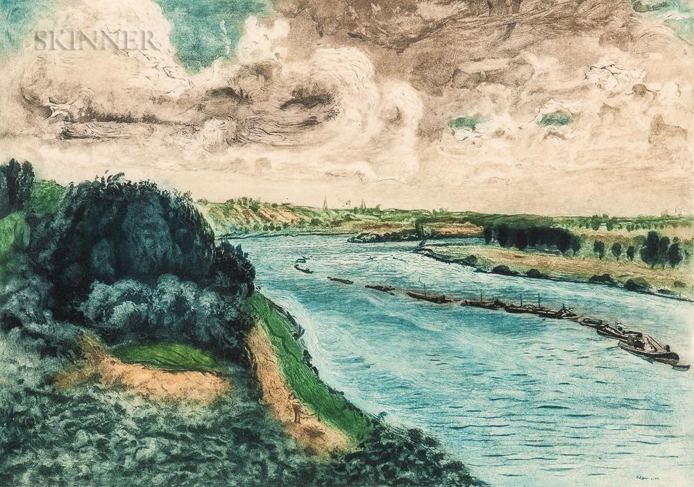 After Pierre-Auguste Renoir (French, 1841-1919)      Chalands sur la Seine