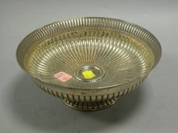 Gorham Sterling Silver Reeded Footed Bowl.