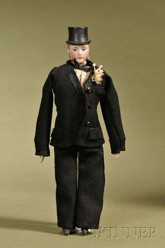 German Gentleman with Molded Top Hat