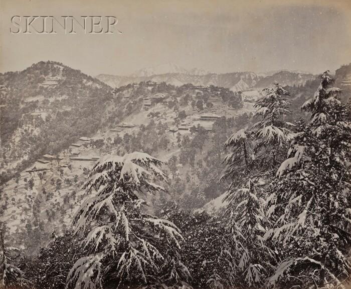 Samuel Bourne (British, 1834-1912)      Lot of Three Mountain Vistas:  Simla Spa