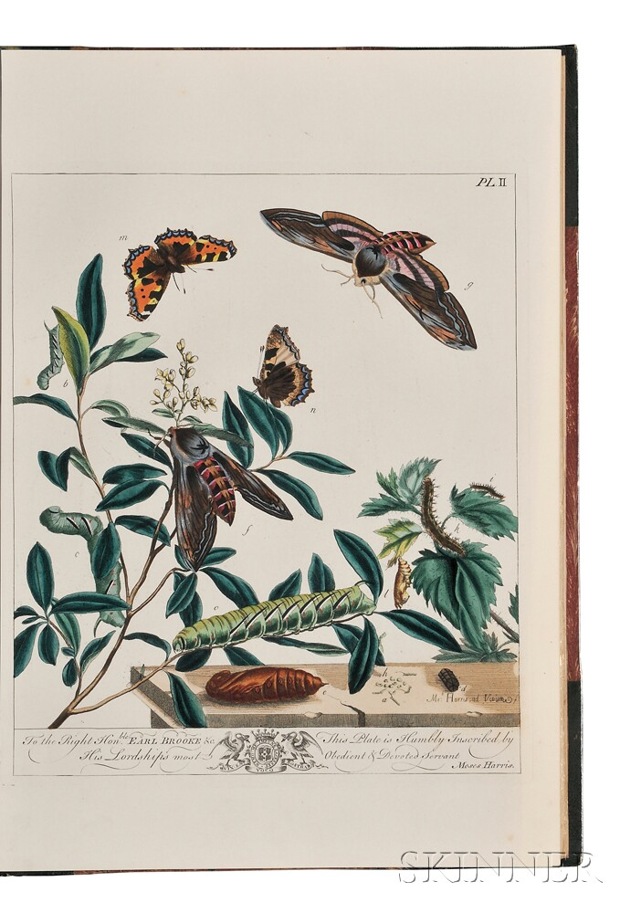 Harris, Moses (1730-c. 1788) The Aurelian a Natural History of English Moths and Butterflies.