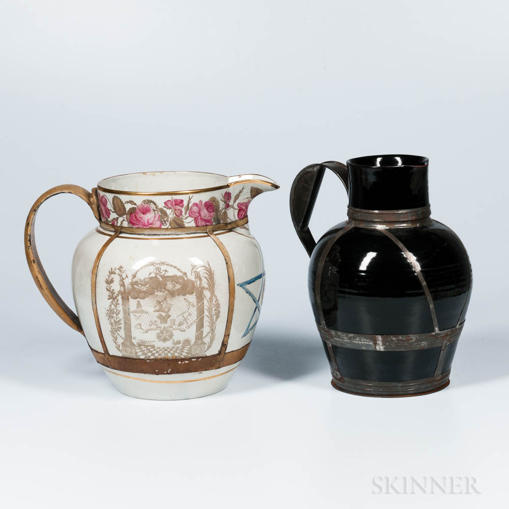 Two Large Make-do Pitchers