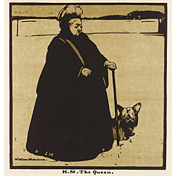 Sir William Nicholson (British, 1872-1949) Lot of Five Images from the TWELVE PORTRAITS Portfolio Including H.M. The Queen, H.R.H. The