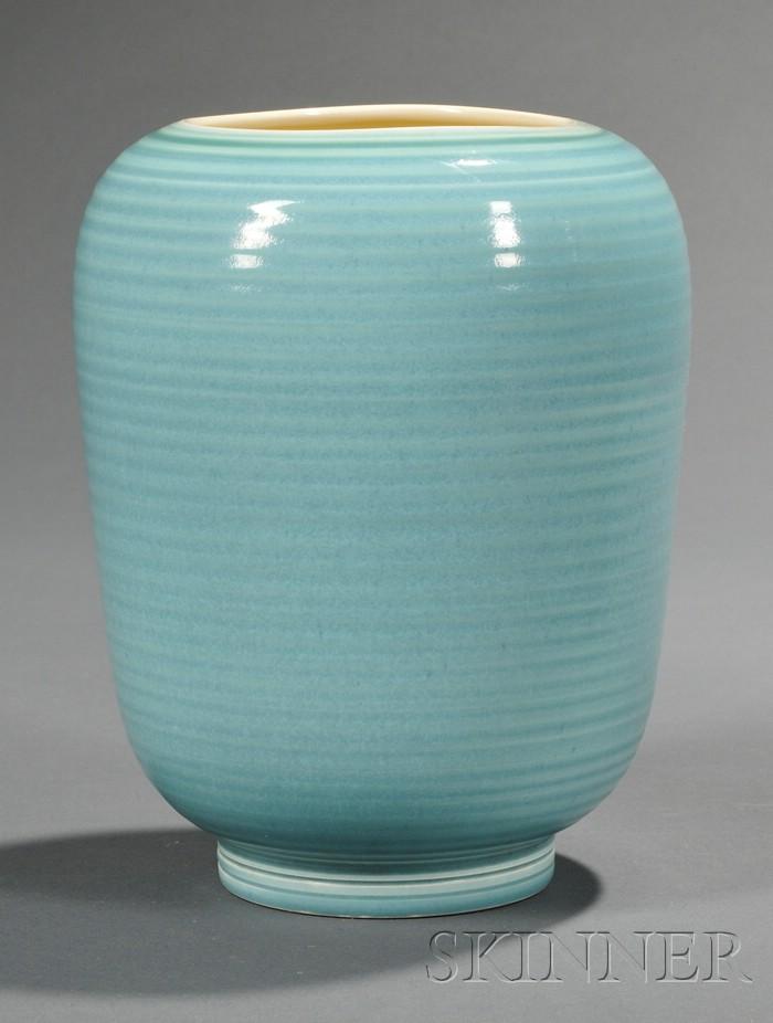 Wedgwood Norman Wilson Designed Blue Glazed Vase