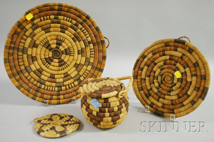 Six Hopi Basketry Items