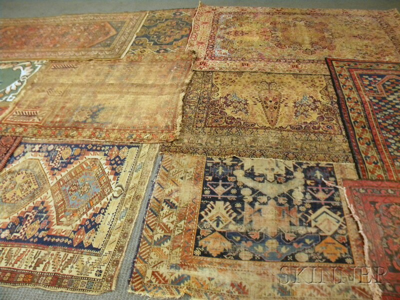Ten Oriental Rugs and a Hooked Rug