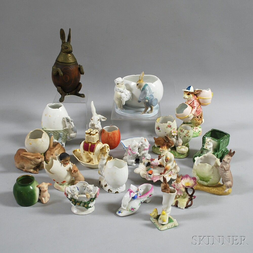 Nineteen Mostly Ceramic Animal Figures