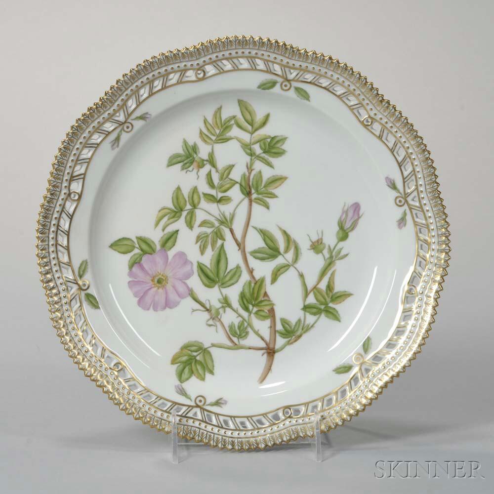 """Four Royal Copenhagen """"Flora Danica"""" Porcelain Plates"""