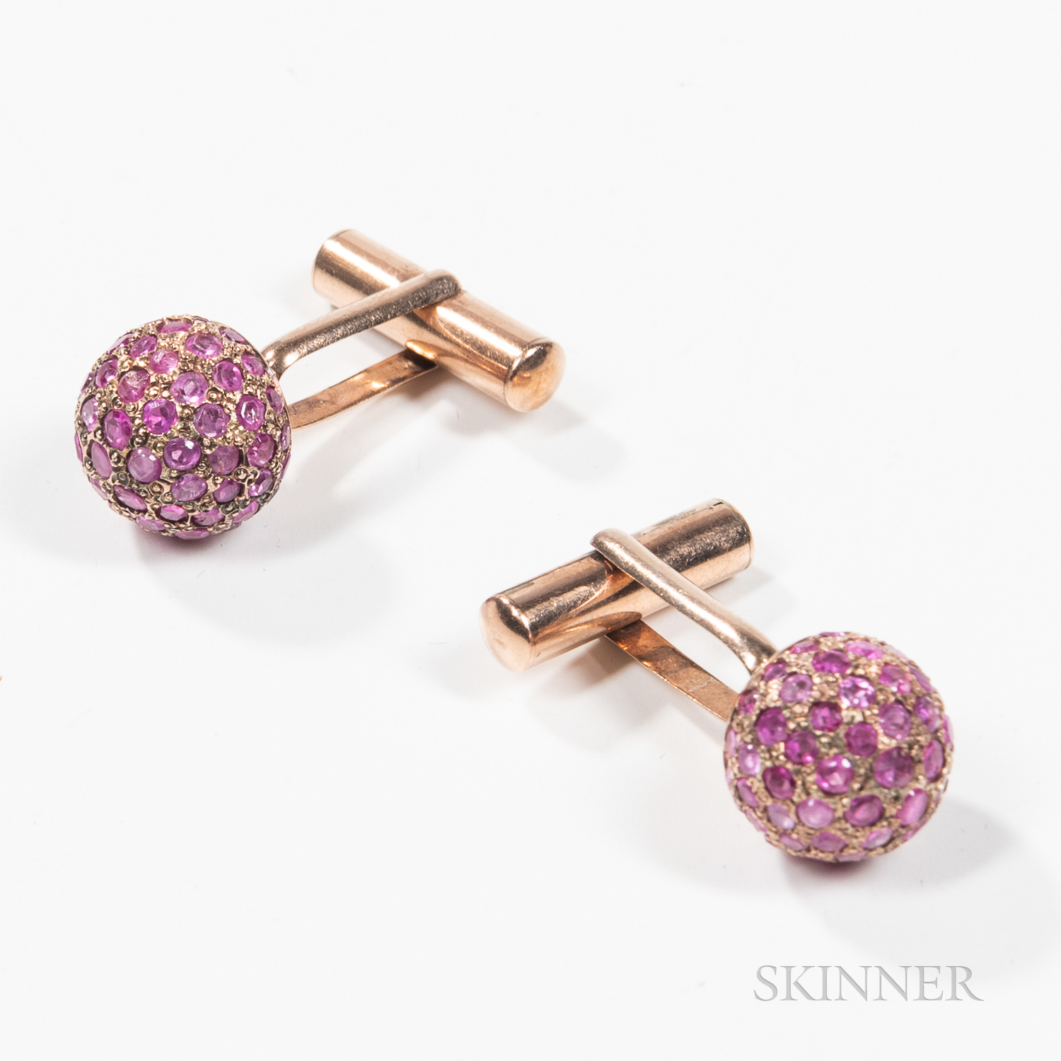 Pair of Ruby Cuff Links