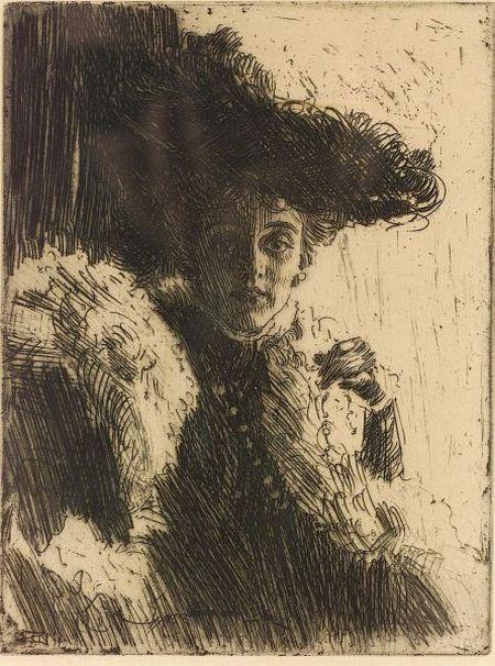 Anders Leonard Zorn (Swedish, 1860-1920)  Mrs. Kip