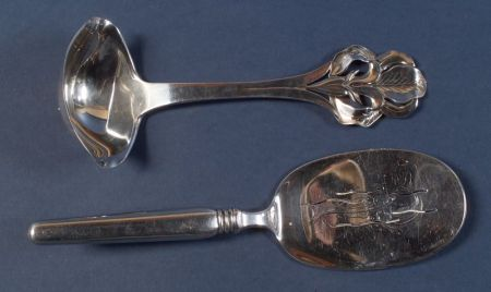 Two Danish Sterling Serving Pieces