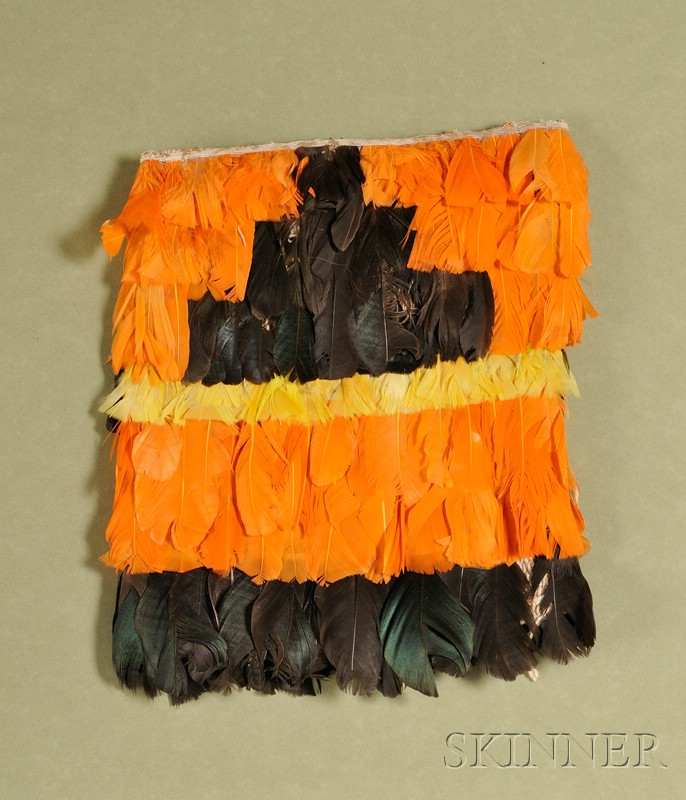 Pre-Columbian Cotton and Feather Pouch
