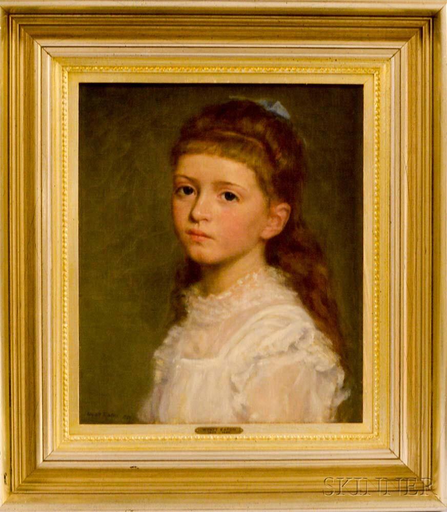 Wyatt Eaton (Canadian/American, 1849-1896)      Portrait of a Girl in White.