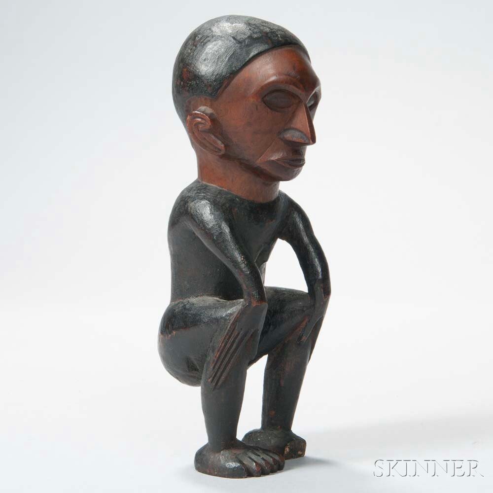 South African Carved Wood Female Figure