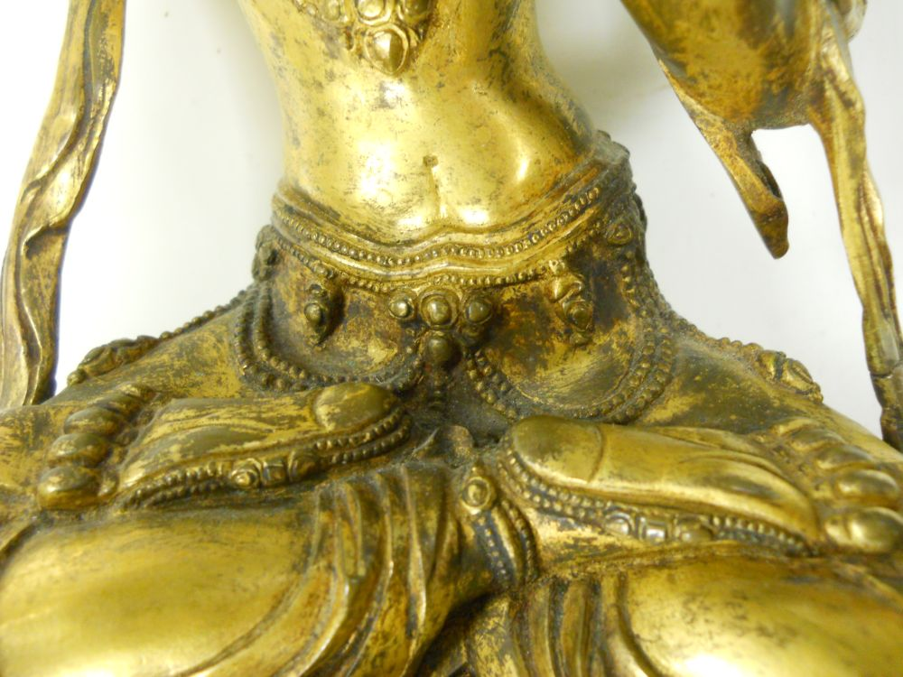 Gilt-bronze Figure of Wenshu Manjushri