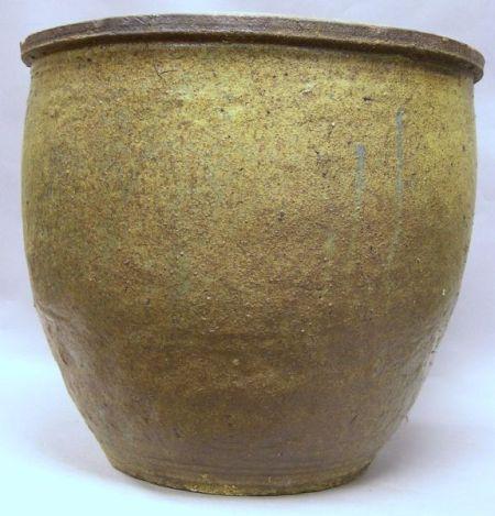 Asian Glazed Ceramic Jardiniere.