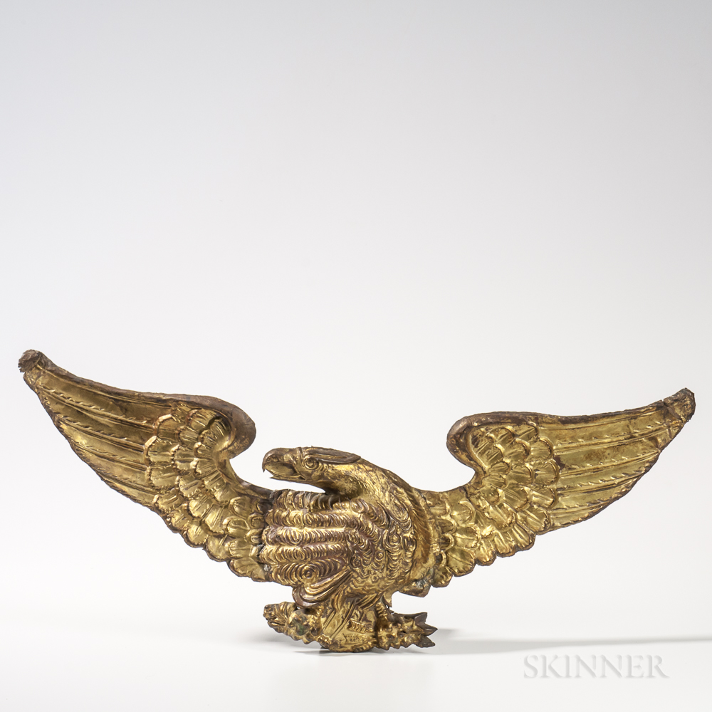 Molded Gilt-brass Spreadwing Eagle