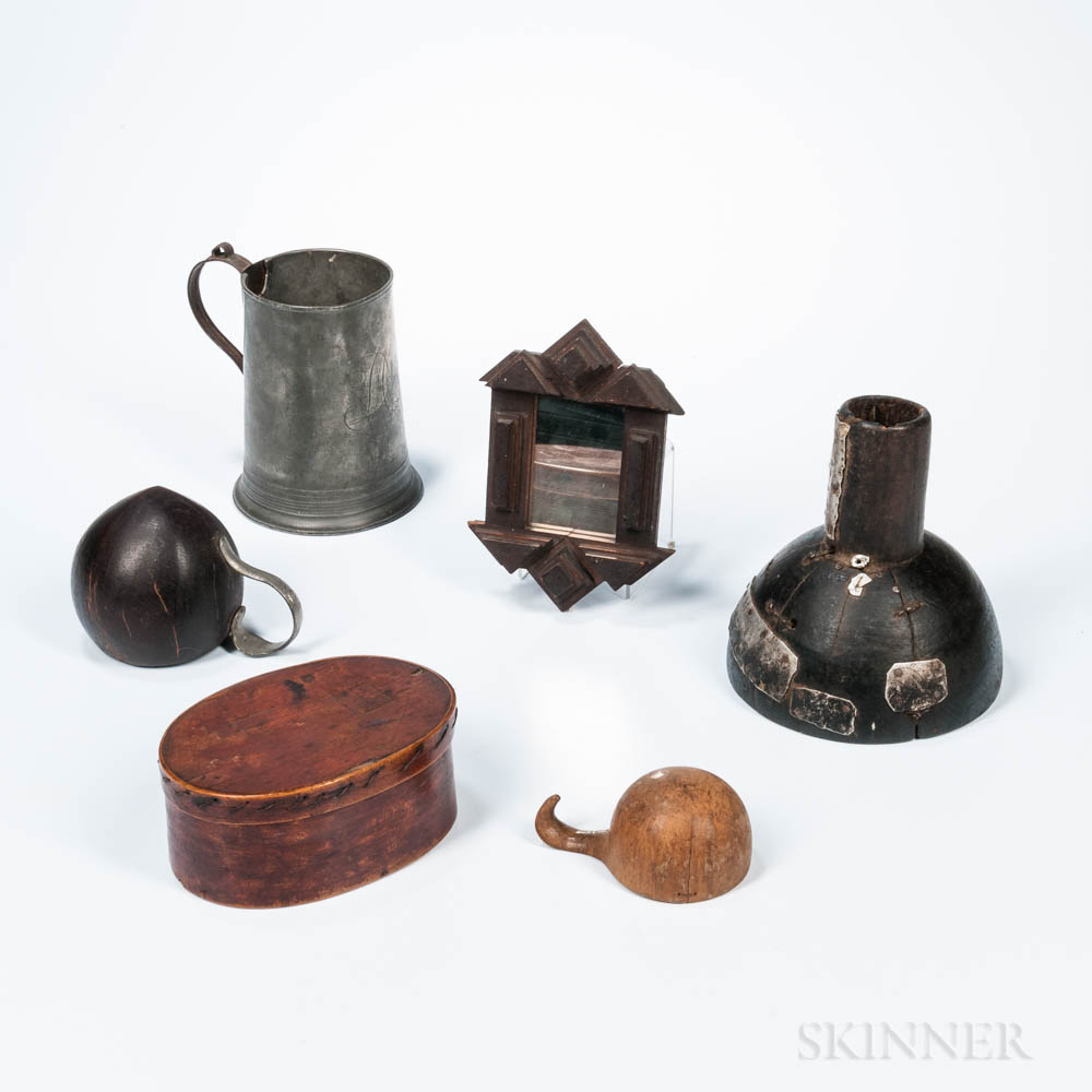 Six Antique Objects Including Make-dos