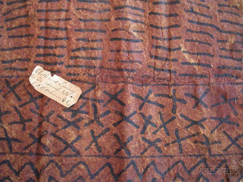 Collection of Hawaiian Tapa Cloth Fragments