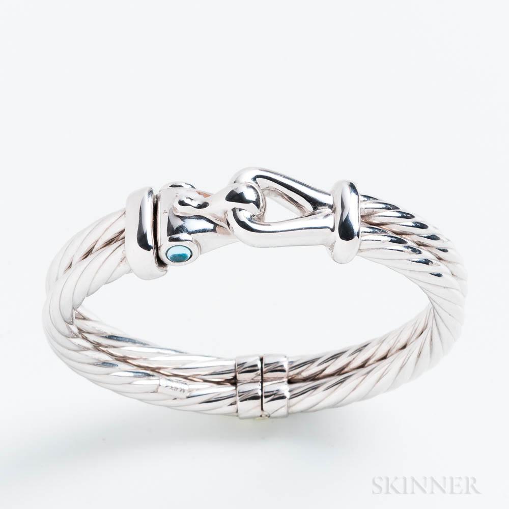 Italian 14kt White Gold Bracelet