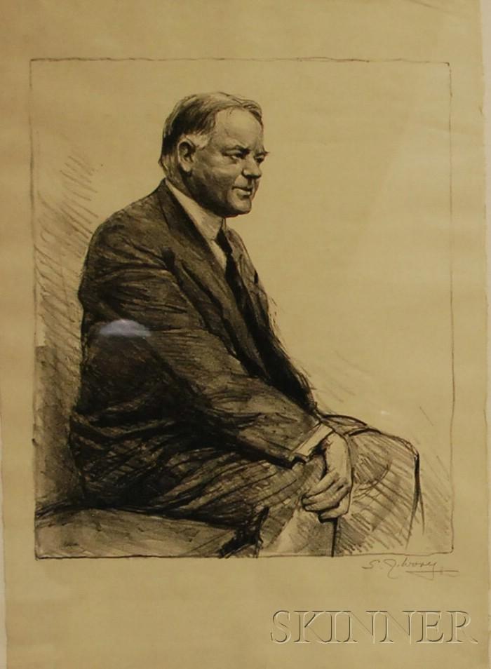 Samuel Johnson Woolf (American, 1880-1948)      Lot of Two Portraits: Roald E. G. Amundsen